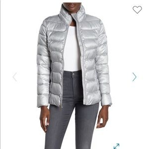 Via Spiga Stand Collar Packable Puffer Jacket
